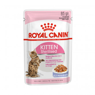 Royal Canin консервы для кошек Киттен Стерилайзд в желе пауч 85 г
