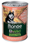 Monge Dog BWild Grain Free консервы для собак всех пород, лосось с тыквой и кабачками, 400 г
